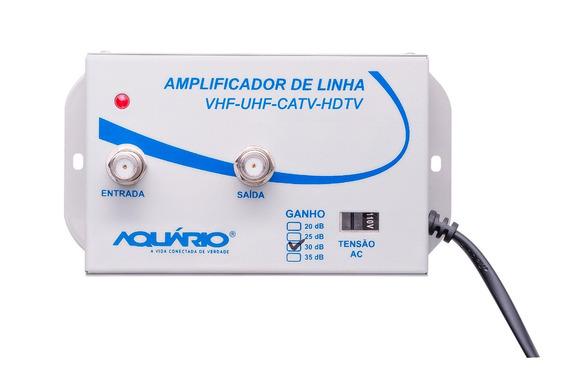 Amplificador De Sinal De Antena P/ Tv 35 Db Al-35 Aquario