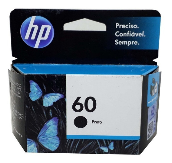 Cartucho Hp 60 Black Original Novo