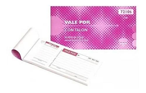 Imagen 1 de 1 de Talonario Vale Por Ad Astra 7210s Con Talon X50hjs