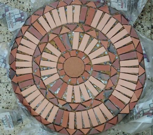Rosetón Piso Terracota Caico Rústico 60cm