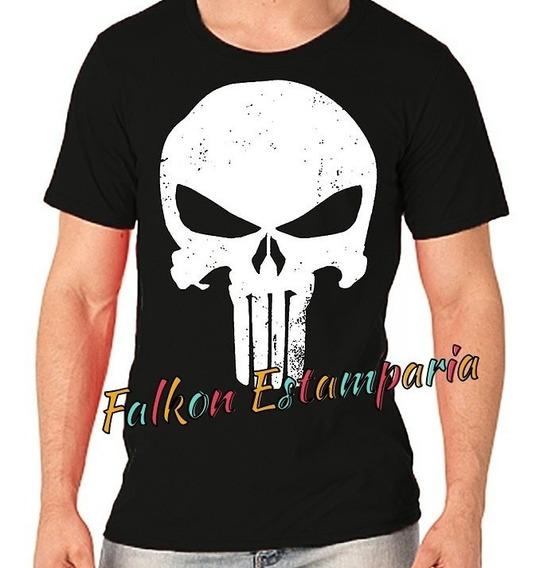 Camiseta Punisher Camisas Serie Camisa Justiceiro Camisa The Punisher Camisa Caveira Camisa Herois