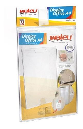 Quadro De Aviso Display Office A4 Cristal Expositor Waleu