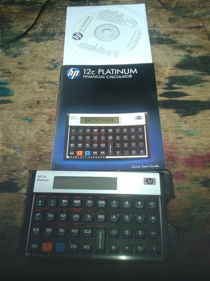 Calculadora 12c Platinum Sem Uso Com Nota Manual Original