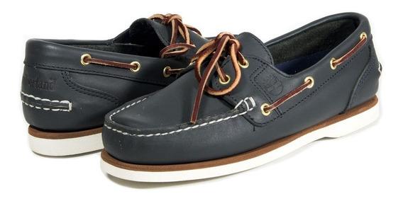 Zapato Piel Timberland Mod. 037233201 De Mujer Azul