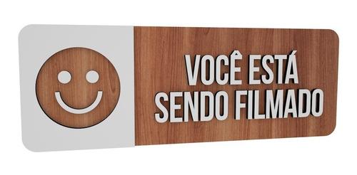 Imagem 1 de 2 de Placa Informativa Sorria Você Está Sendo Filmado Escola Bar