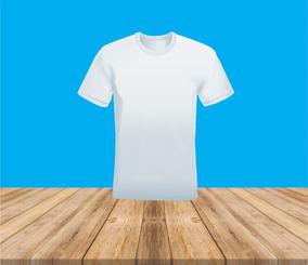 Camiseta Branca Para Sublimação - 100% Poliéster   10 Und