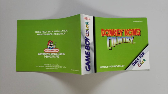 Donkey Kong Country Manual Game Boy Color