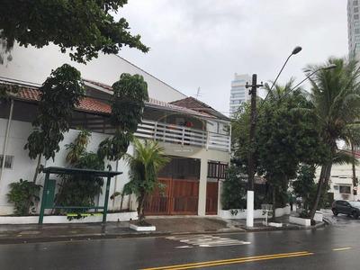 Casa Residencial Para Locação, Ponta Da Praia, Santos. - Codigo: Ca0123 - Ca0123
