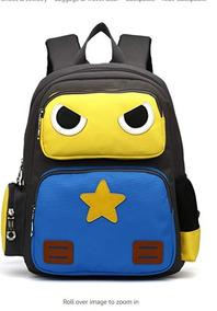 Mochilas Escolares Backpack Niños Robot Amarillo Arcenciel