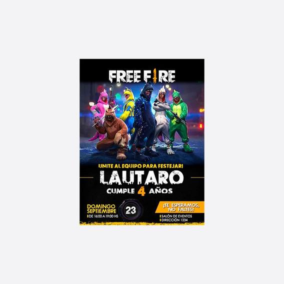Invitacion Digital Free Fire Tarjeta Virtual