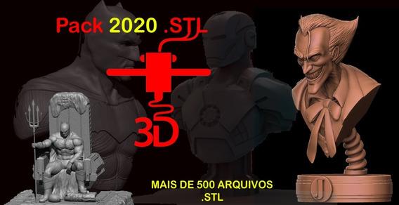 Pacote Com Mais De 500 Modelos .stl Para A Impressão 3d