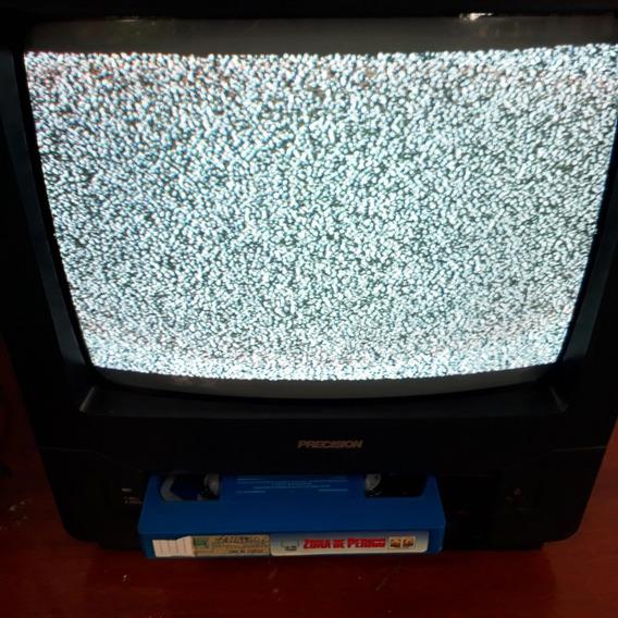 Tv Com Vídeo Cassete Acoplado Precision Pvm 1450 Cod 2810