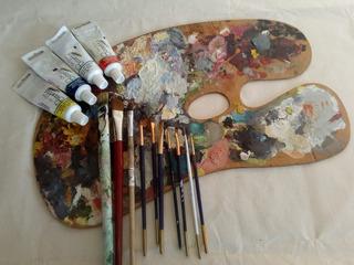 Paleta De Madera Para Pintura Artística, Estilo Clásico