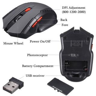 Mouse Gamer 2.4ghz Inalámbrico Óptico Mouse & Receptor Usb