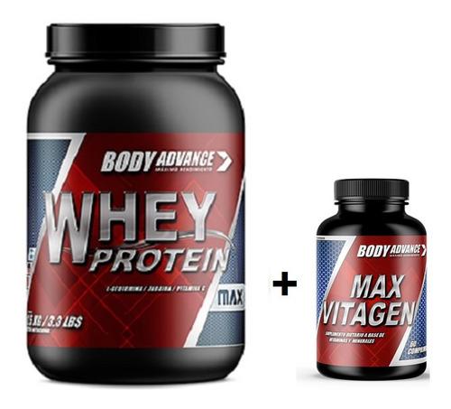 Whey Protein 1 Kg + Max Vitagen Body Advance
