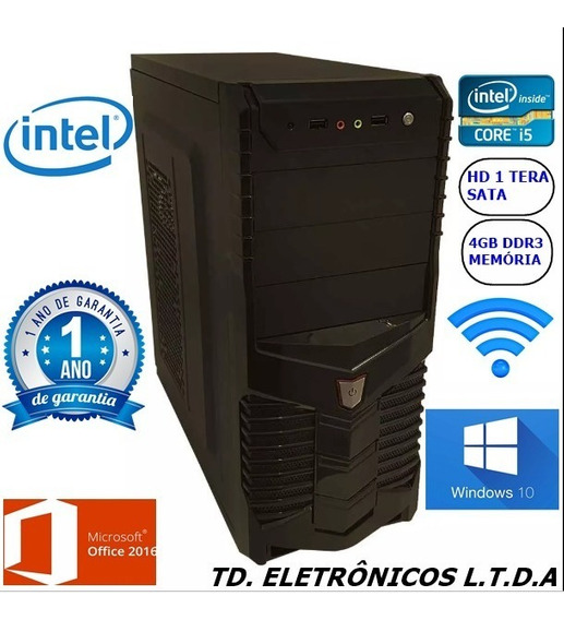 Cpu Completa Core I5 3g/4gb Ddr3 /hd 1 Tera /wifi