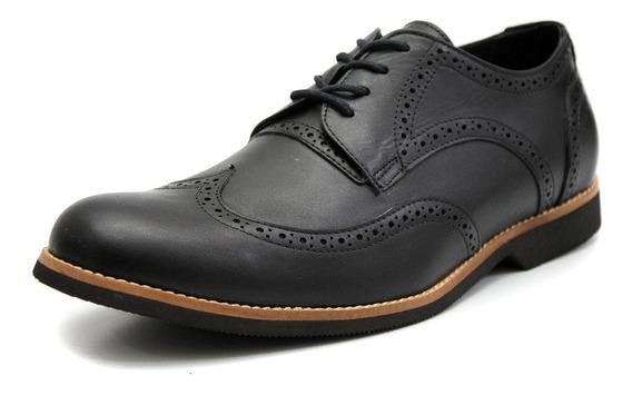 Sapato Masculino Oxford Couro Tamanho Especial 6810