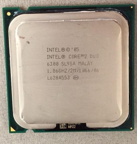 Processador Cpu Core 2 Duo E6300 Sl9sa 1.86ghz