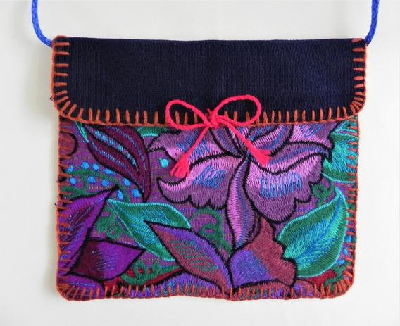 Bolsa En Bordado De Flores Artesanal Chiapaneco, Artes #16