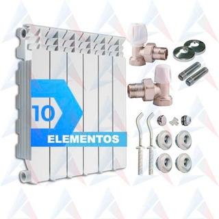 Radiador Italiano Fondital 500 De Alum X 10 Elemento + Kit
