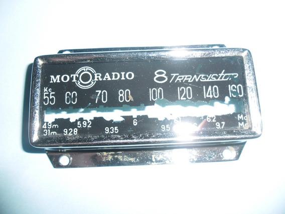 Frente Dial Do Radio Motoradio De Carro Antigo.