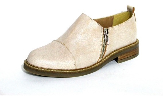 Zapatos Botinetas Suela Goma Doble Cierre Calzado New Pierre