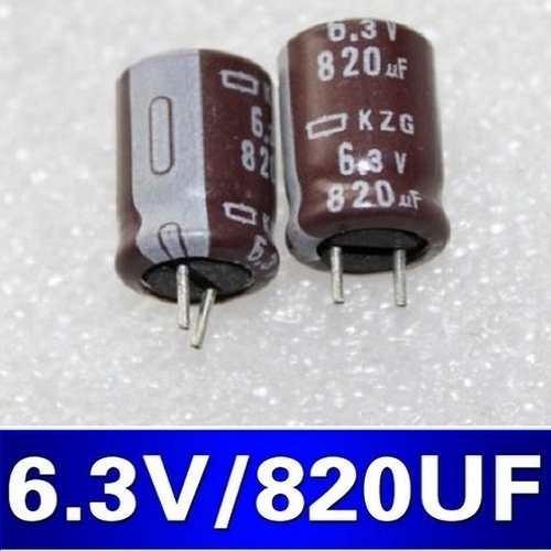 Capacitores Personalizados Kit 100 Peças 820uf X 6.3v