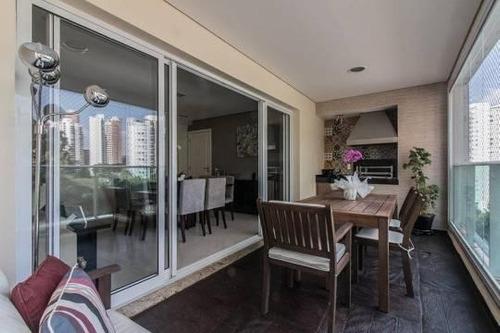 Imagem 1 de 24 de Apartamento Com 3 Dormitórios À Venda, 129 M² - Panamby - São Paulo/sp - Ap25231