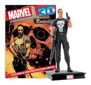 Marvel 3d Súper Héroes Figura Punisher #17 + Poster