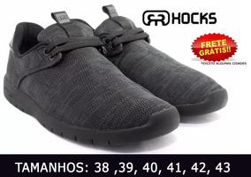 Tênis Hocks Solar X Black Preto Conforto Macio Original