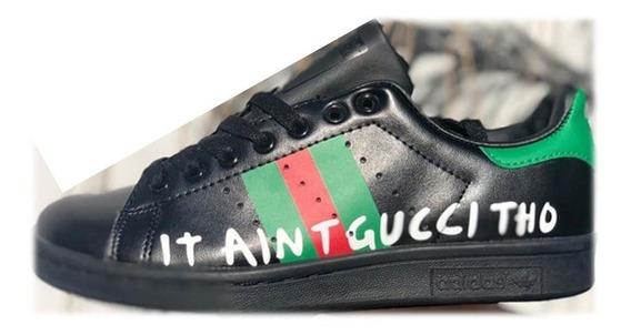 Tenis adidas Stan Smith Gucci Tho Negro Llega 1 A 2 Dias
