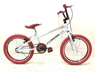 Bicicleta Infantil Aro 20 Cross Bmx + Pneus Vermelhos