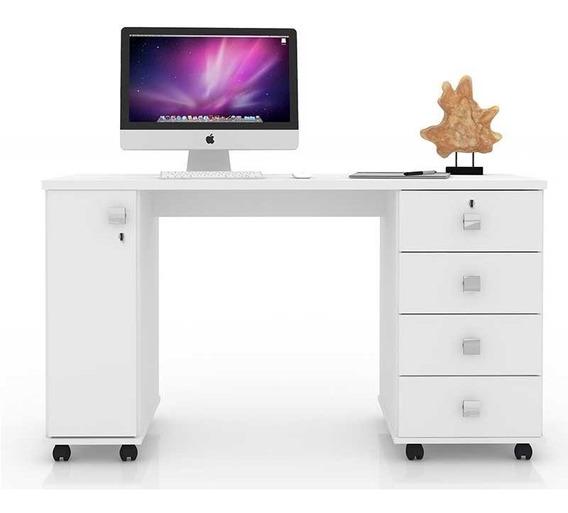 Escrivaninha Mesa Computador Notebook Estudos Smart Branca