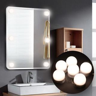 Luces Led Kit 6 Bombillas Regulables Para Espejo De Baño