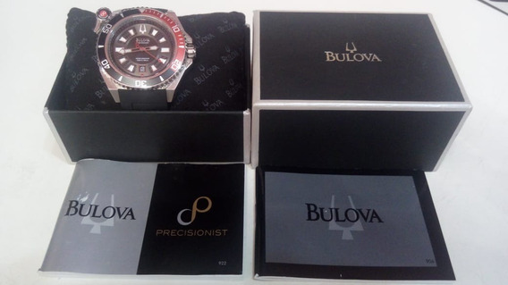 Relógio Bulova Analógico Esportivo Wb31569t - Prata E Preto