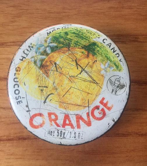 Lata Antigua Caramelos Duros Orange Morinaga