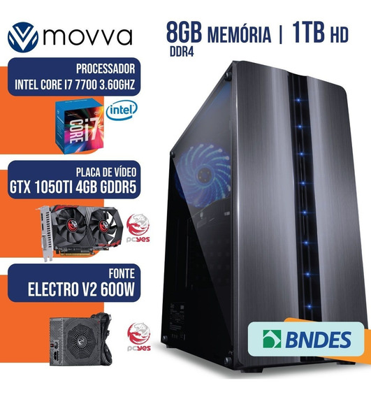 Computador Gamer Mvx7 Intel I7 7700 3.6ghz Mem. 8gb Ddr4 Hd