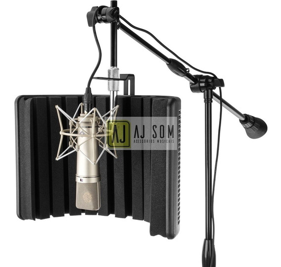 Difusor Acústico-vocal Booth Reflection Filter Black Edition