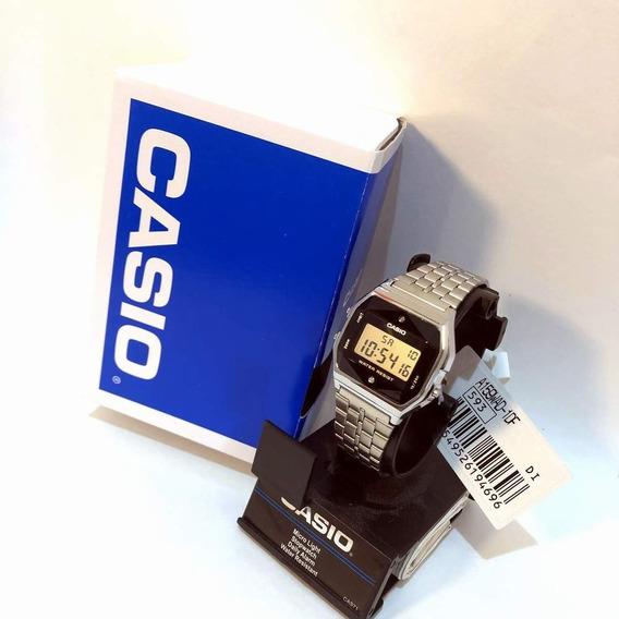 Relogio Casio A-159wad-1 Lapidado Strass Retrô A159+nf Origi