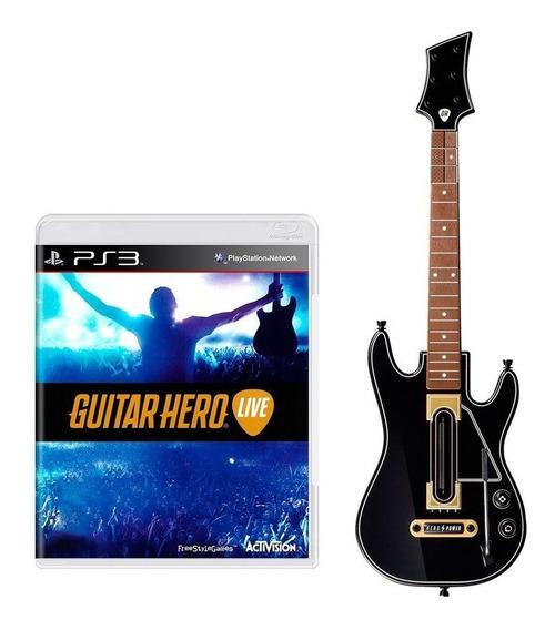 Kit Guitar Hero Live Guitar Bundle Ps3