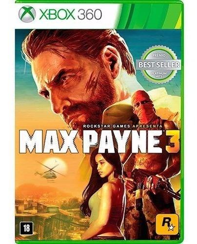 Max Payne 3 Xbox 360 Português Original Novo E Lacrado