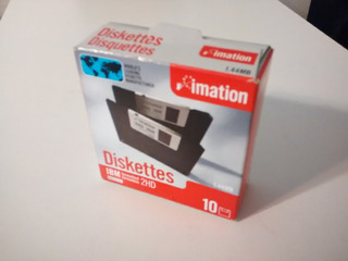 Lote De 4 Cajas De Diskettes Imation Ibm 2hd 1.44mb