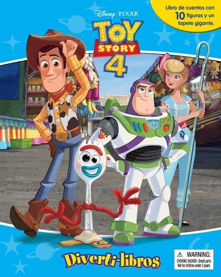 Toy Story 4 Diverti-libros Libro Para Niños Con 10 Figuras
