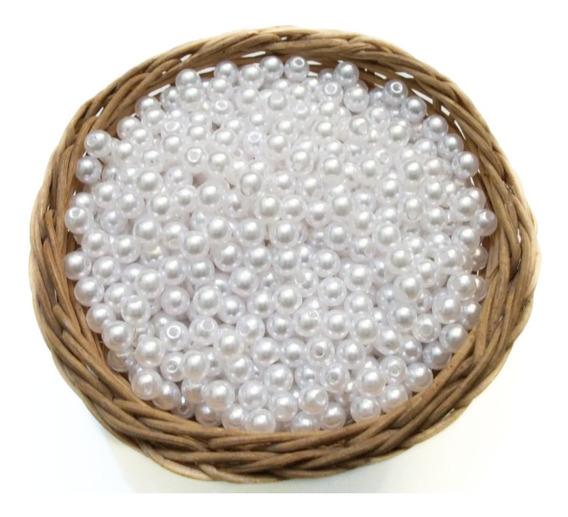 1000 Perlas Blancas 6 Mm. Para Coser - Bijou, Souvenirs .