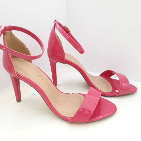 Sandalia Salto Fino Rosa