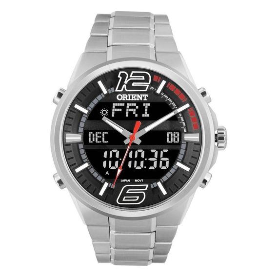 Relógio Anadigi Esporte Em Aço Orient Masculio Mbssa047 Pvsx