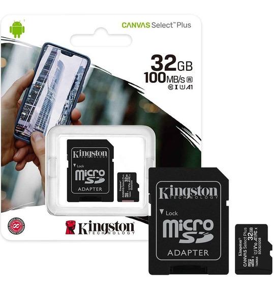 Cartão De Memória Kingston Microsd32gb Clas10 C/adaptador Sd