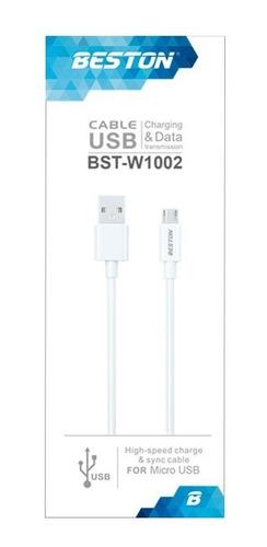 Cable Usb Micro Usbv8 Carga Rápida Y Transferencia Datos 2mt