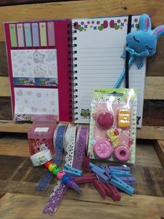 Kit Papelería Kawaii Búho Artículos Escolares Cute Owl