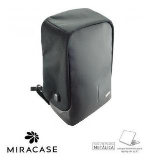 Morral Antirobo Miracase + Puerto Carga Usb + Multicharguer